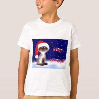 Gullig Santa kattT-tröja Tee