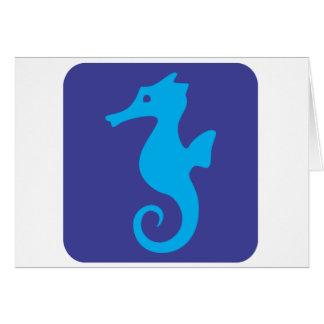 Gullig Seahorsesymbol Hälsningskort