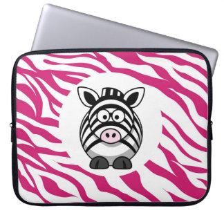 Gullig sebra på för tryckZoo för rosa sebra djura Datorfodral