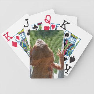 Gullig skäggig design för drakefototryck spelkort