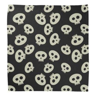Gullig skelett- Bandana för Kawaii skallemönster