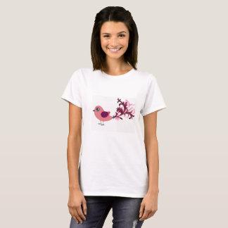 Gullig skjorta för fågelgrafikutslagsplats t-shirt