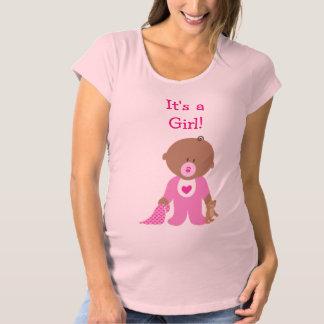 Gullig skjorta för moderskap för rosapåkläddbaby tee shirts