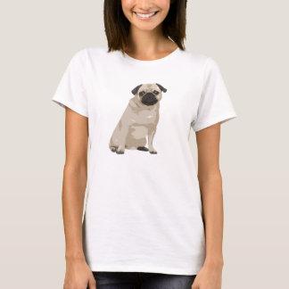 Gullig skjorta för tecknadmops T T-shirt