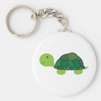 Gullig sköldpadda rund nyckelring