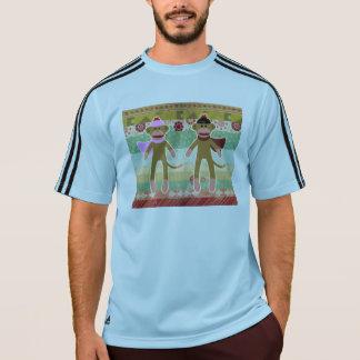 Gullig sock monkey på trasamönster tshirts