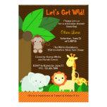 Gullig söt baby shower för djungeldjurpojke