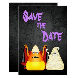 Gullig spöklik Halloween spara 8,9 X 12,7 Cm Inbjudningskort