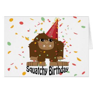 Gullig Squatchy födelsedag Bigfoot OBS Kort