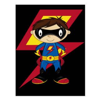 Gullig Superheropojke Vykort