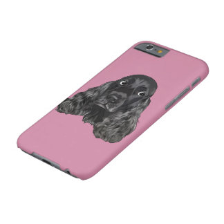 Gullig svart cockerspanielSpanielhund Barely There iPhone 6 Fodral