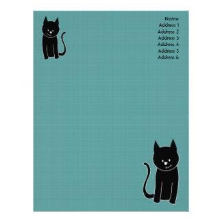 Gullig svart katt brevhuvud