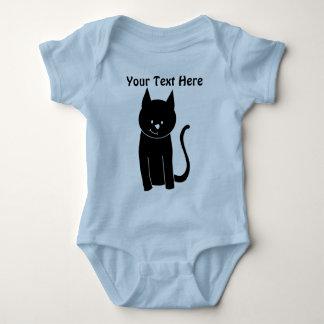 Gullig svart katt tee shirt