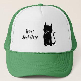 Gullig svart katt truckerkeps