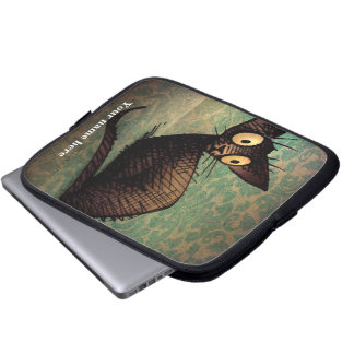 Gullig svart orientalisk katt laptop sleeve