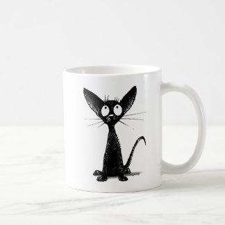 Gullig svart orientalisk kattunge - kattälskare kaffemugg