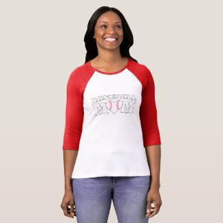 Gullig T-tröja för basebollarena för Tee Shirt
