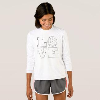 Gullig T-tröja för flickavolleybollkärlek Tshirts