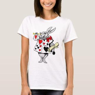 Gullig T-tröja för tecknadvitkanin Tee Shirts