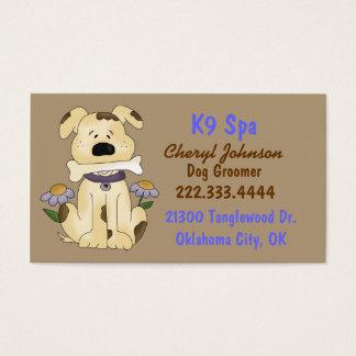 Gullig tecknad hundGroomervisitkort Visitkort