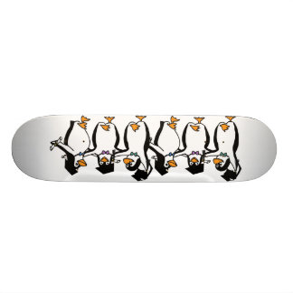 Gullig tecknad som avlägger examen pingvin old school skateboard bräda 18 cm