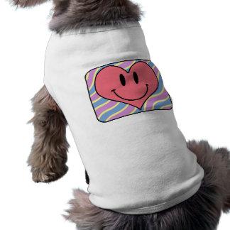 Gullig tecknad som ler valentin Retro hjärta för Långärmad Hundtöja