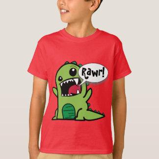 """Gullig tecknadgrönt """"Rawr!"""", Dinosaur Tee Shirts"""