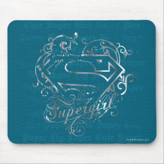 Gullig toppen för Supergirl toppenfluga Musmatta