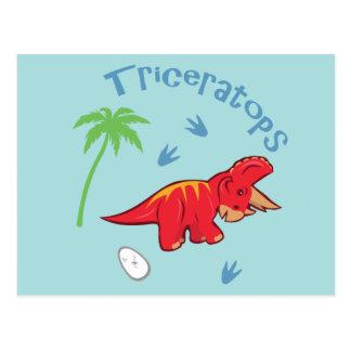 Gullig Triceratops Vykort