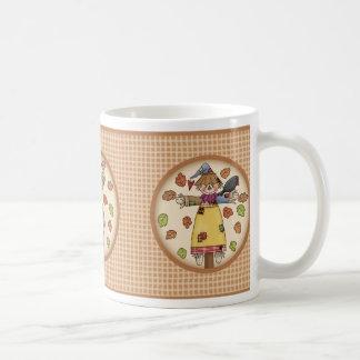 Gullig Trio av fågelskrämmor på Kaffemugg