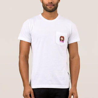 gullig tshirt för sassy flickaemoji t shirts