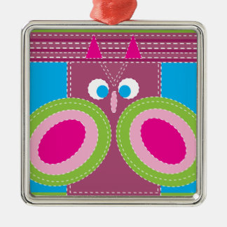 Gullig uggla sydd nyckfull fågel för Look Julgransprydnad Metall