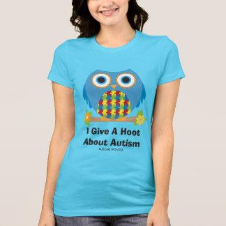 Gullig ugglage en dyft om Autism Tee Shirt