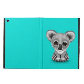 Gullig unge för babyKoalabjörn på blått iPad Air Skydd