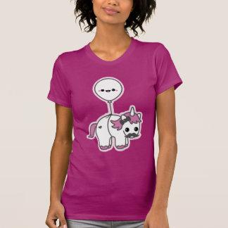 Gullig Unicorn med ballongen Tee Shirts