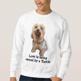 Gullig unisex- tröja för Yorkshire Terrier så
