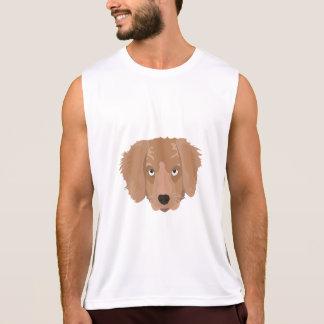 Gullig uppnosig valp t-shirt