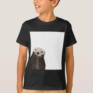 Gullig utter med rum att tillfoga din egna text tee shirts