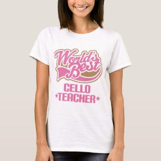 Gullig violoncellläraregåva t-shirt