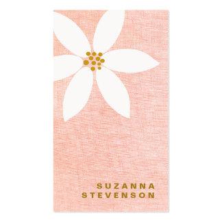 Gullig visitkort för rosor för vitdaisyblomma
