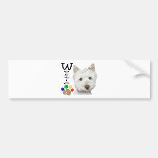 Gullig Westie hund- och tasskonst Bildekal