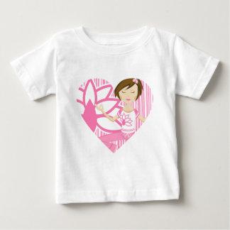 Gullig Yogaflicka & blomma T Shirt