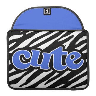 Gullig zebra ränder för kungliga blått sleeve för MacBooks