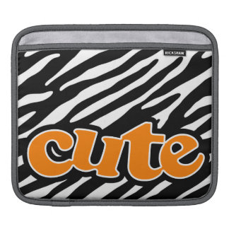 Gullig zebra ränder orange sleeve för iPads