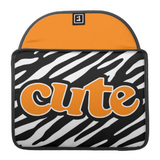 Gullig zebra ränder orange sleeves för MacBooks