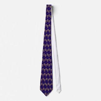 Gulliga apor på blåttbakgrund. slips