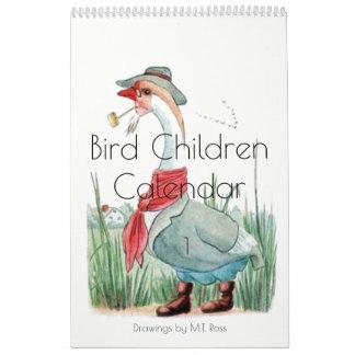 Gulliga barn 1 för fågel för kalender