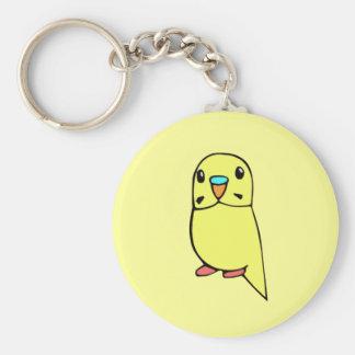 Gulliga Budgie Keychain Rund Nyckelring