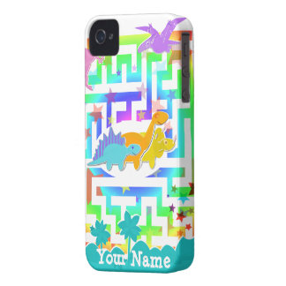 Gulliga Dinosaurs i ett Mazeblackberry boldfodral iPhone 4 Cases