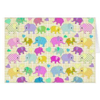 Gulliga elefanter hälsningskort